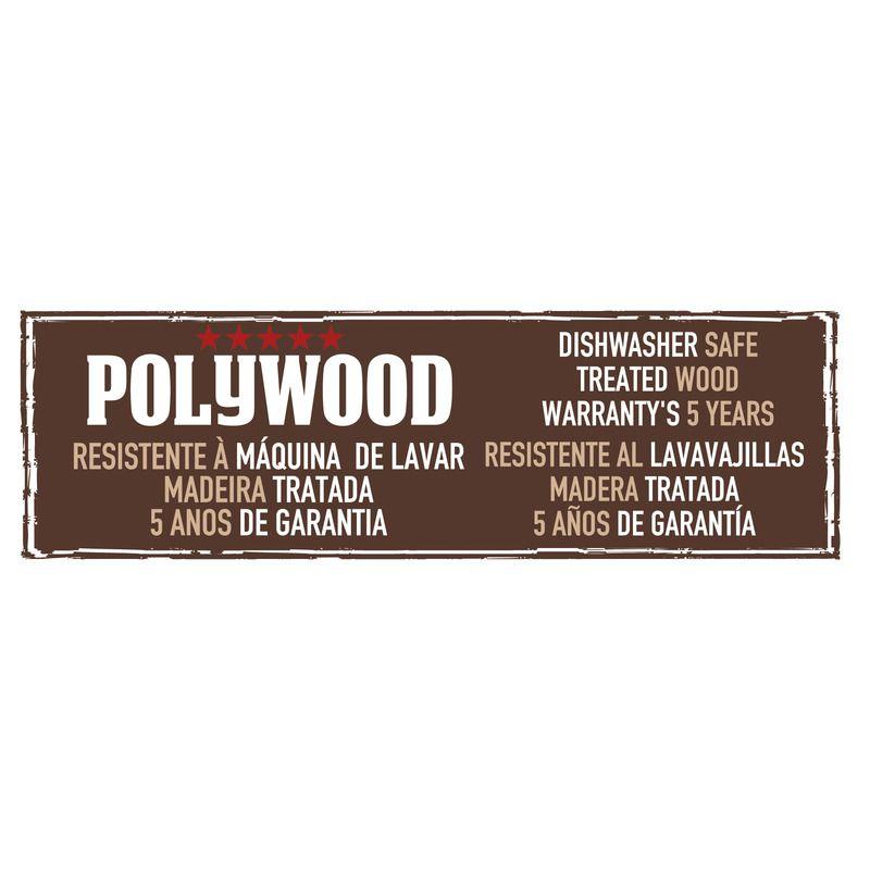 "Faca Carne Inox 6"" Polywood Castanho Tramontina"