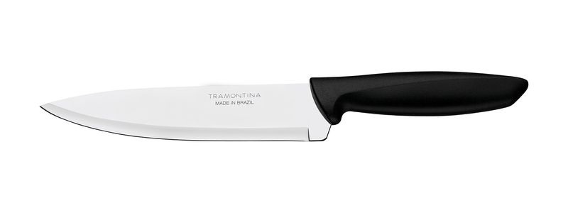 "Faca Chef Inox 7"" Plenus Preto Tramontina"