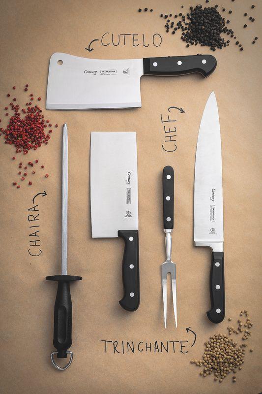 """Faca Chef Tramontina Century Aço Inox 10"""""""