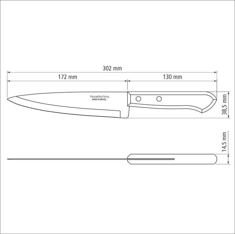 Faca Peixeira/Cozinha Inox 7