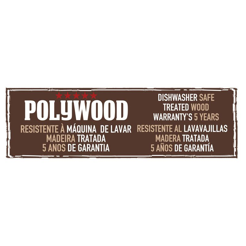 "Faca Queijo Inox 6"" Polywood Castanho Tramontina"