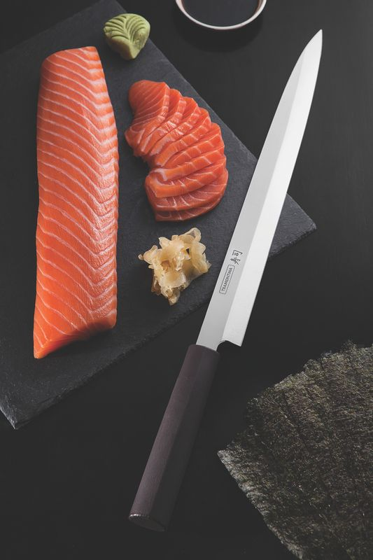 "Faca Yanagiba Para Sushi E Sashimi 13"" Tramontina"