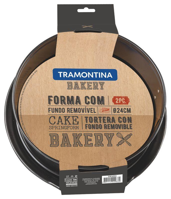Forma Para Bolo 24 Cm Bakery Preto Tramontina
