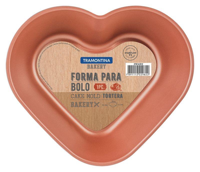Forma Para Bolo Alumínio 24 Cm Bakery Cinza Tramontina