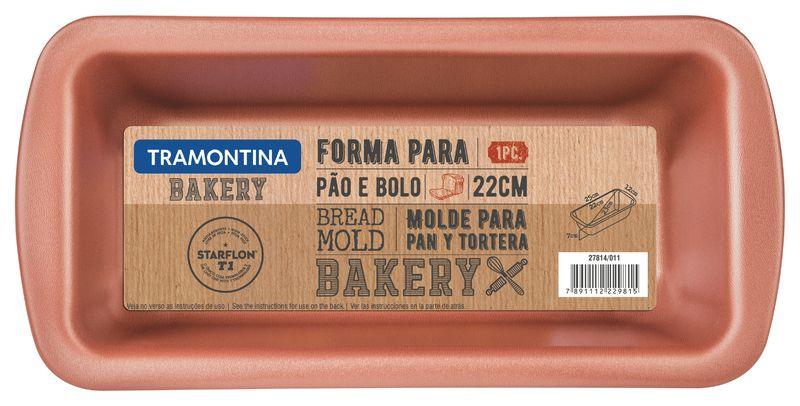 Forma Para Pão Alumínio 22 Cm Bakery Cinza Tramontina