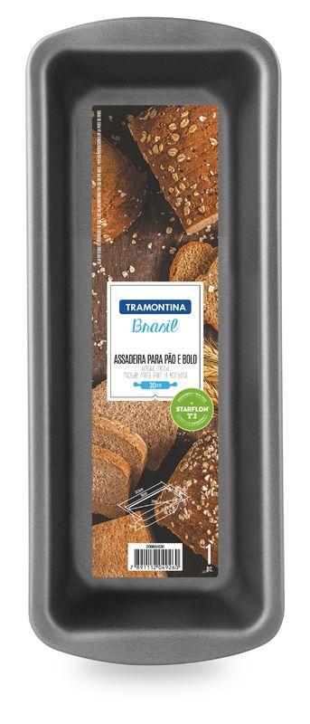 Forma Para Pão e Bolo Alumínio 26 Cm Grafite Tramontina