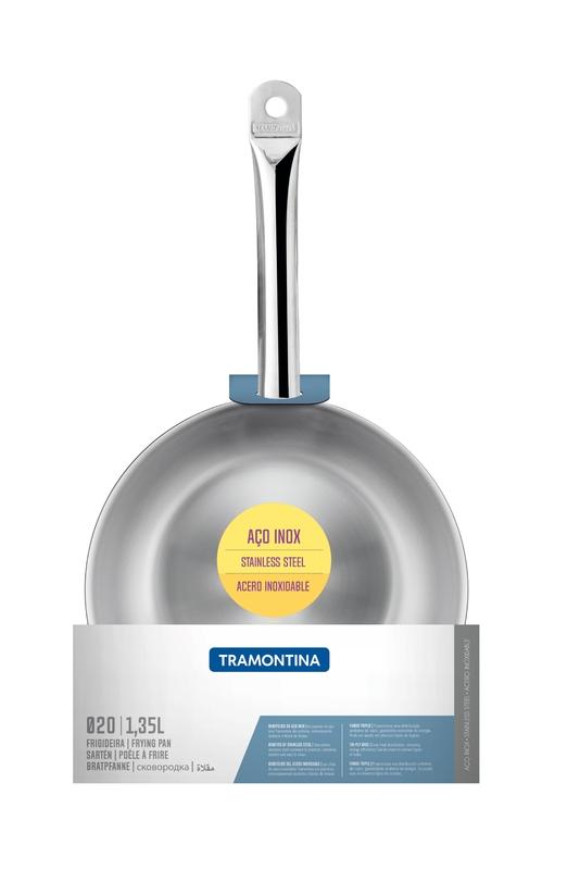 Frigideira Funda Aço Inox Profissional Tramontina