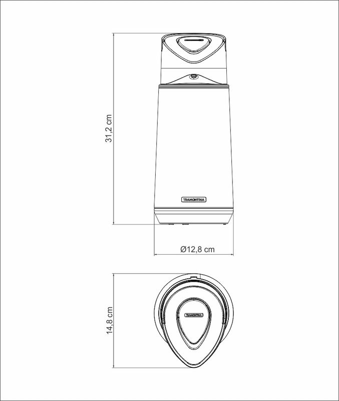 Garrafa Térmica Exata Inox Ampola de Vidro 1,2 L Tramontina