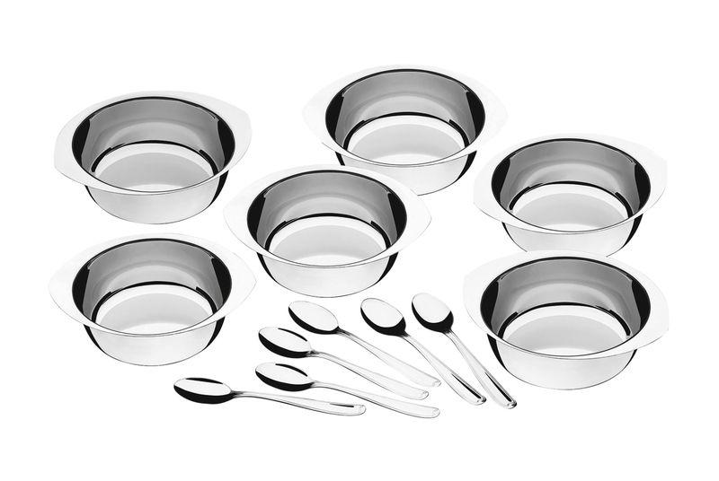 Jogo Aço Inox Para Sobremesa 12 Peças Tramontina