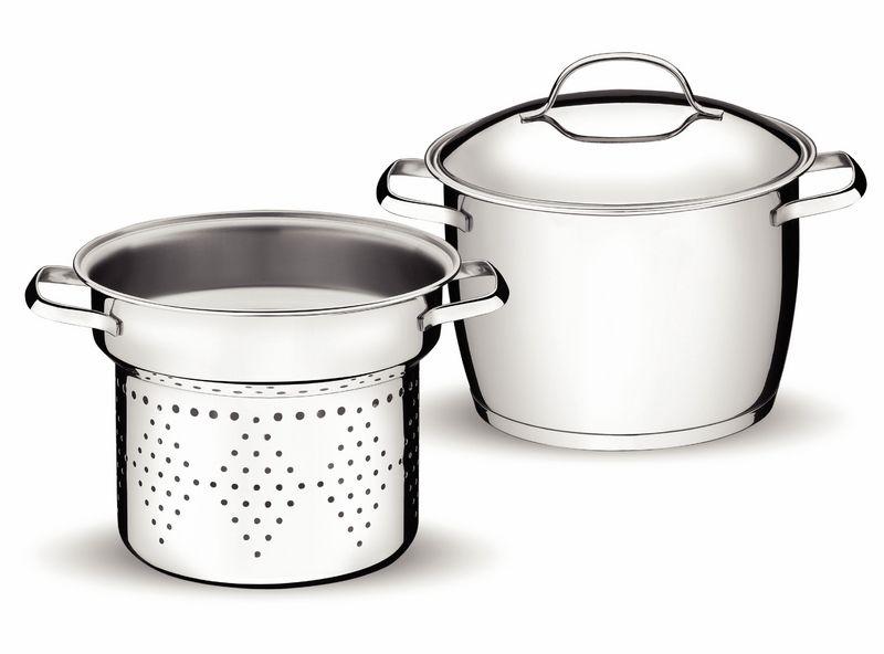 Jogo Cozi-Pasta Aço Inox 2 Peças Allegra Tramontina