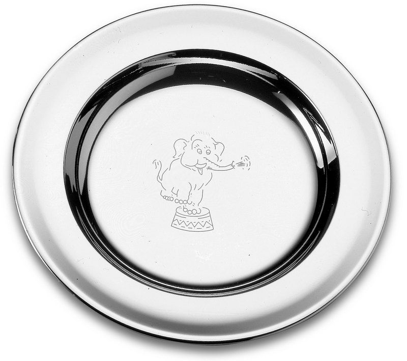 Jogo De Talheres + Prato em Aço Inox Criança Baby Tramontina