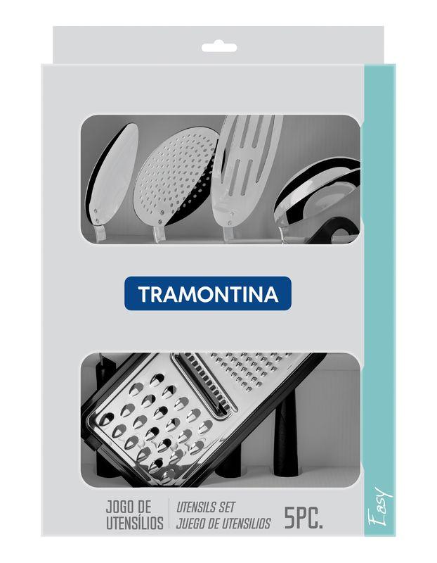 Jogo de Utensílios 5 Peças Easy Preto Tramontina