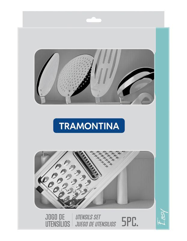 Jogo de Utensílios Easy 5 peças Branco Tramontina