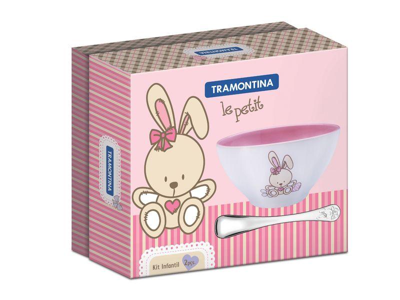 Jogo Porcelana Para Criança 2 Peças Le Petit Tramontina
