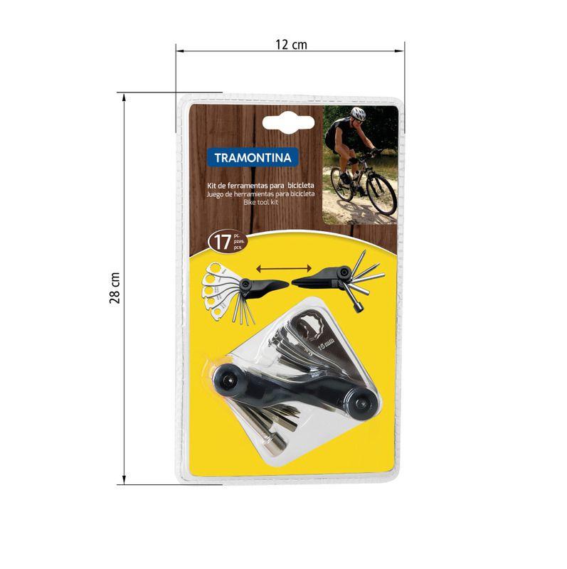 Kit de Ferramentas para Bicicleta Tramontina 17 Peças