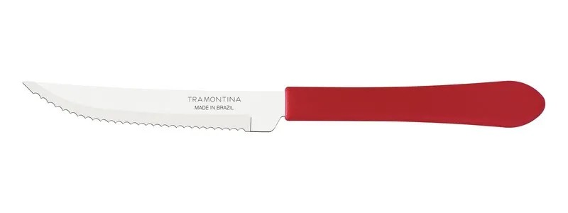 Kit Restaurante 100 Talheres Tramontina Leme Vermelho