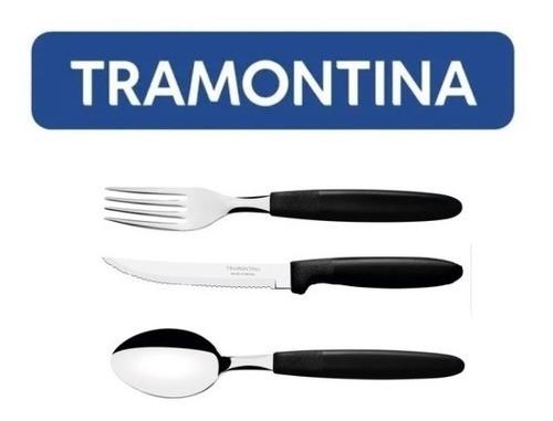 Kit Restaurante 150 Talheres Tramontina Ipanema Preto