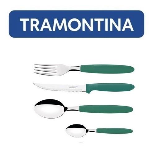 Kit Restaurante 16 Talheres Tramontina Ipanema Verde
