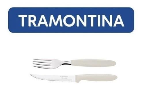 Kit Restaurante 200 Talheres Tramontina Ipanema Cinza