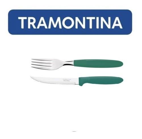 Kit Restaurante 200 Talheres Tramontina Ipanema Verde