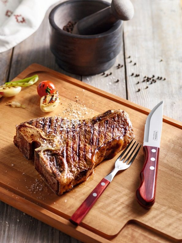 Kit Restaurante 24 Talheres Tramontina Polywood Vermelho