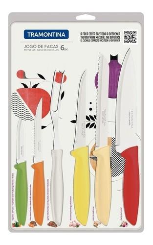 Kit Restaurante 40 Talheres Leme + Jogo de Facas Plenus 6 peças