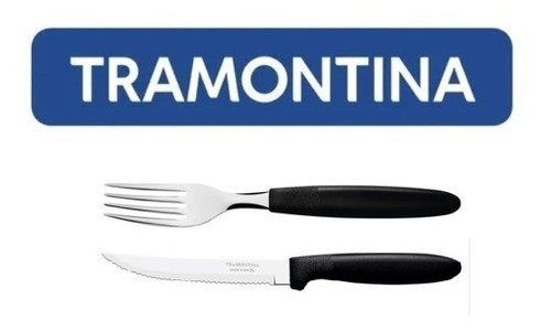 Kit Restaurante 50 Talheres Tramontina Ipanema Preto