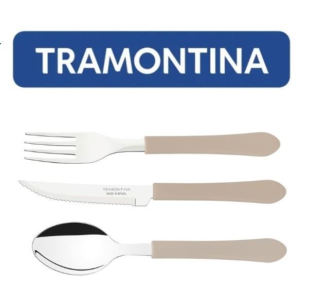 Kit Restaurante 60 talheres Leme Cinza