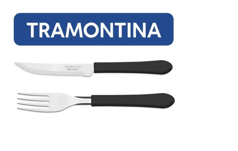 Kit Restaurante 60 Talheres Tramontina Leme Garfo + Faca