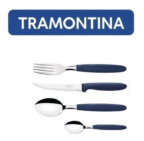 Kit Restaurante 72 Talheres Tramontina Ipanema Azul