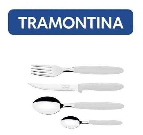Kit Restaurante 72 Talheres Tramontina Ipanema Branco
