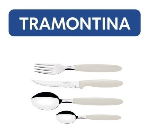 Kit Restaurante 72 Talheres Tramontina Ipanema Cinza