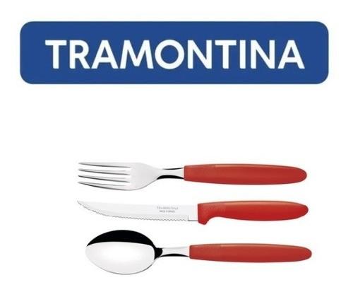 Kit Restaurante 75 Talheres Tramontina Ipanema Vermelho