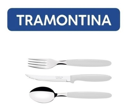 Kit Restaurante 90 Talheres Tramontina Ipanema Branco