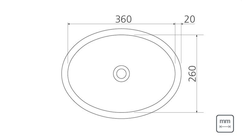 Lavabo Oval Sobrepor Tramontina em Aço Inox 36 x 26 cm