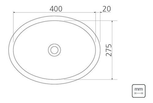 Lavabo Sobrepor Tramontina Oval Aço Inox Alto Brilho 40x27cm