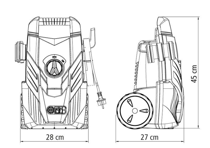 Lavadora Alta Pressão 1200 Wats - 127V Tramontina