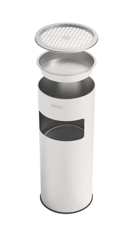 Lixeira Cinzeiro Inox Com Balde 11 litros Tramontina