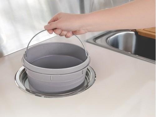 Lixeira de Embutir Tramontina Clean Round em Aço Inox 8 L