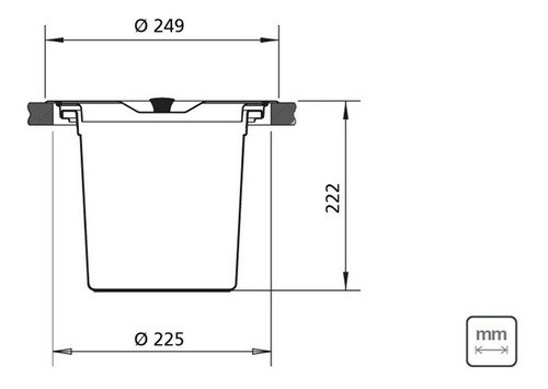 Lixeira Embutir Tramontina Clean Round Aço Inox 5 L