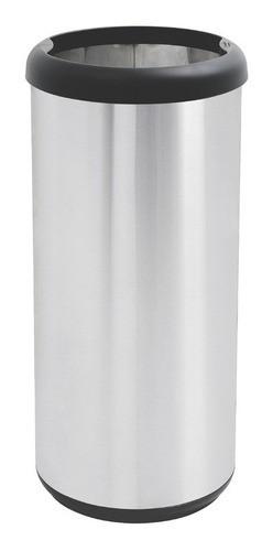 Lixeira Inox Tramontina Selecta Plus Aro e Base Preta 40 L