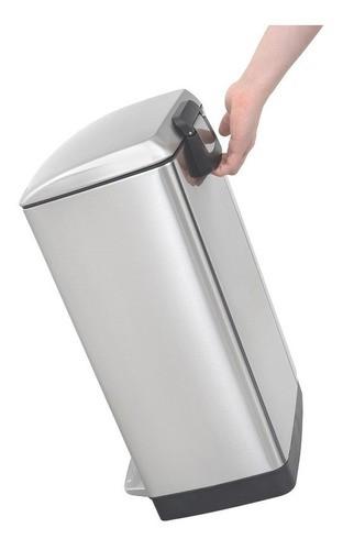 Lixeira Pedal Tramontina Slim em Aço Inox 30 L