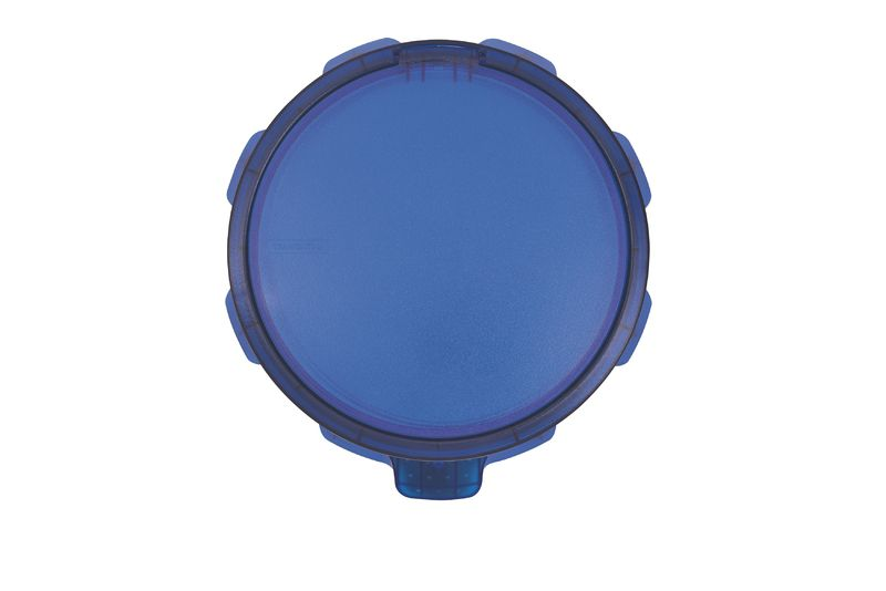 Lixeira Inox Tramontina Sofie Detalhes Plástico Azul 5L