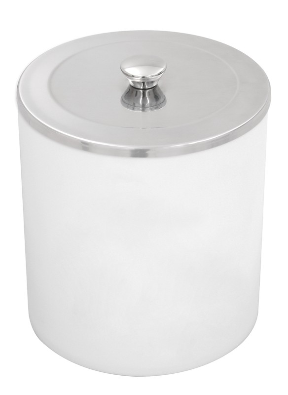 Lixeira Tramontina Útil Branco com Tampa em Aço Inox 5 L