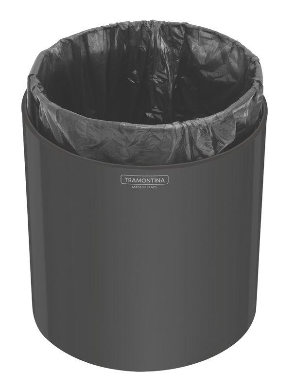 Lixeira Util 5 litros  Com Acabamento Black Tramontina