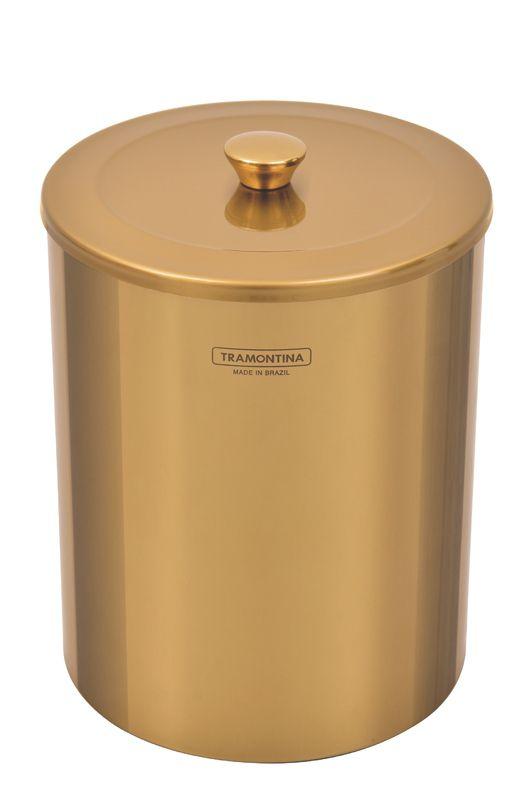 Lixeira Util 5 litros Com Acabamento Gold Tramontina