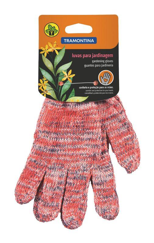 Luvas para Jardinagem Tramontina em Algodão Colorida