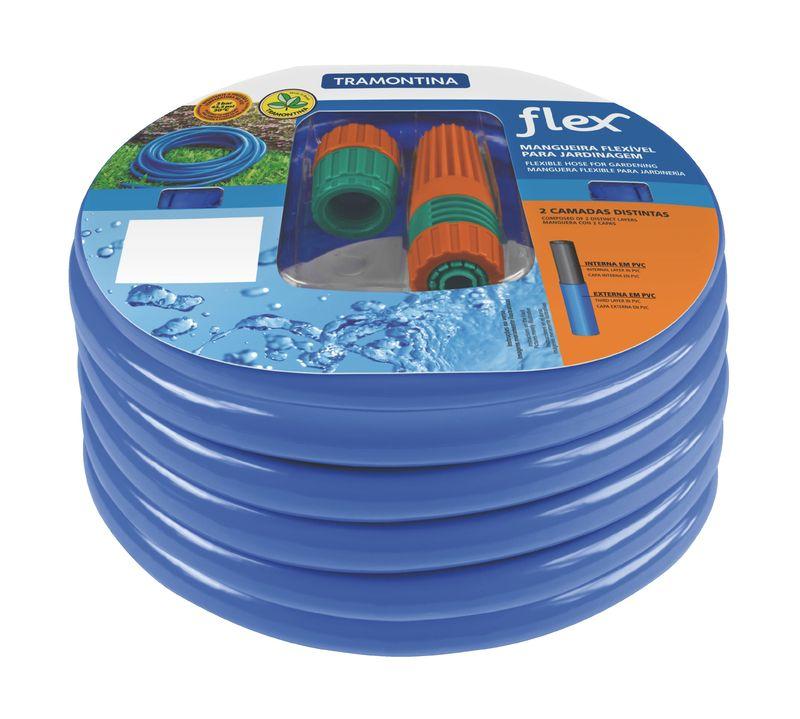 Mangueira Flexível Tramontina Azul 15 M Com Acessórios