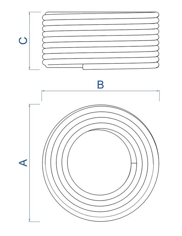 Mangueira Flexível Tramontina Branca em PVC 3 Camadas 50 M