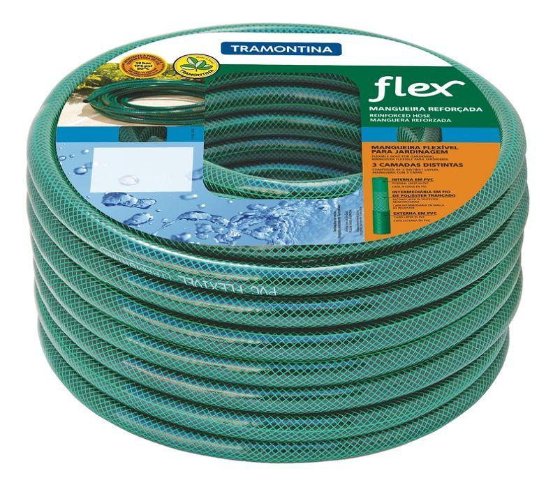 Mangueira Flexível Tramontina Verde em PVC 3 Camadas 25 Metros